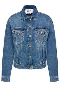MSGM Kurtka jeansowa 3041MDH41LX 217283 Niebieski Regular Fit. Kolor: niebieski. Materiał: jeans