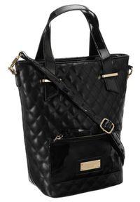 Czarna torebka Monnari glamour, pikowana