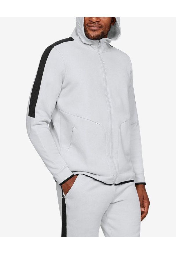 Biała bluza Under Armour z kapturem, długa