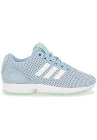 Niebieskie buty sportowe Adidas w kolorowe wzory