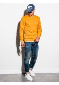 Żółta bluza Ombre Clothing bez kaptura, na co dzień #4