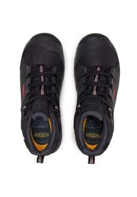 keen - Trekkingi KEEN - Steens Wp M 1022330 Black/Bossa Nova. Kolor: czarny. Materiał: skóra, nubuk, materiał. Szerokość cholewki: normalna. Sport: turystyka piesza