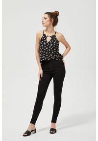 Czarne jeansy MOODO długie, z podwyższonym stanem