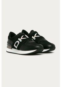 Czarne buty sportowe DKNY z cholewką, z okrągłym noskiem
