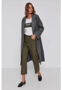 Mos Mosh - Spodnie. Stan: podwyższony. Kolor: zielony. Materiał: materiał