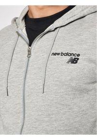 New Balance Bluza MJ03908 Szary Regular Fit. Kolor: szary