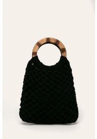 Czarna torba plażowa Pieces mała