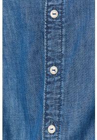 Niebieska koszula Pepe Jeans z długim rękawem, casualowa