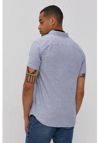 PRODUKT by Jack & Jones - Produkt by Jack & Jones - Koszula. Okazja: na co dzień. Typ kołnierza: kołnierzyk klasyczny. Kolor: fioletowy. Materiał: tkanina. Długość rękawa: krótki rękaw. Długość: krótkie. Wzór: gładki. Styl: klasyczny, casual