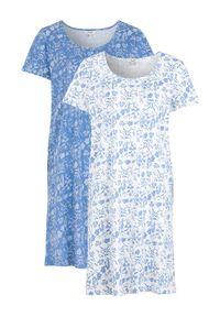 Cellbes Koszula nocna 2 Pack jasnoniebieski biały female niebieski/biały 38/40. Kolor: biały, niebieski, wielokolorowy. Długość: krótkie