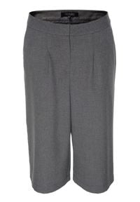 TOP SECRET - Spodnie 3/4 damskie luźne. Stan: podwyższony. Kolor: szary. Styl: elegancki