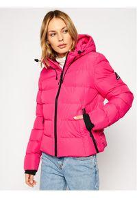 Różowa kurtka zimowa Superdry