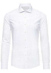 Baldessarini Koszula Henry 41232/000/40003 Biały Slim Fit. Kolor: biały