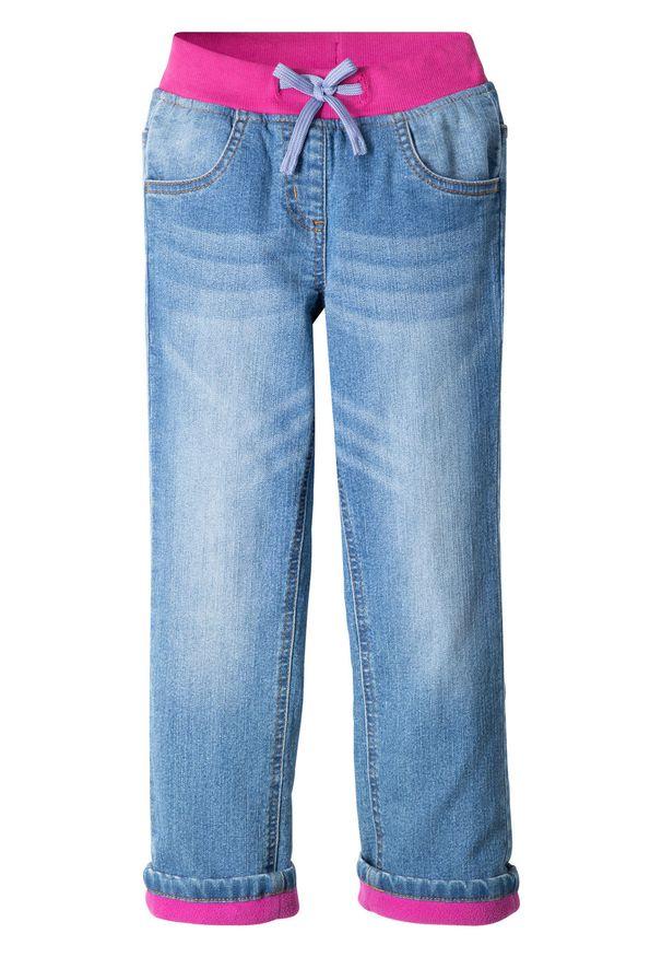 Niebieskie jeansy bonprix długie, eleganckie