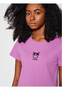 Fioletowy t-shirt Pinko