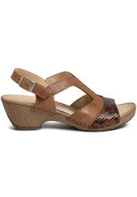 Brązowe sandały Comfortabel