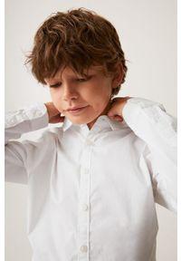 Biała koszula Mango Kids casualowa, na co dzień, z klasycznym kołnierzykiem