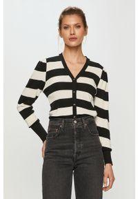 Czarny sweter rozpinany Silvian Heach z długim rękawem, klasyczny