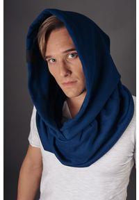 Niebieskie nakrycie głowy Hultaj Polski w kolorowe wzory