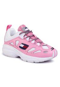 Różowe buty sportowe Tommy Jeans