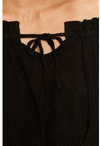 Czarna bluzka TALLY WEIJL z długim rękawem, na co dzień, długa