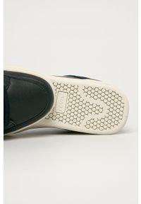 Niebieskie sneakersy Levi's® na spotkanie biznesowe, z cholewką, na sznurówki