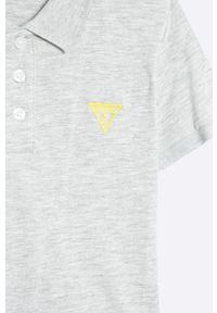 Szary t-shirt polo Guess Jeans casualowy, na co dzień