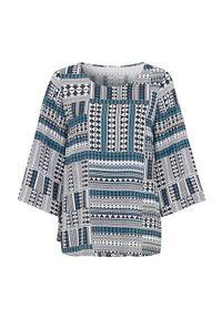 Cellbes Wzorzysta bluzka z szerokimi rękawami niebieski we wzory female niebieski/ze wzorem 34/36. Kolor: niebieski. Materiał: włókno, wiskoza, tkanina. Styl: klasyczny