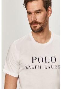 Polo Ralph Lauren - T-shirt. Okazja: na co dzień. Typ kołnierza: polo. Kolor: biały. Materiał: dzianina. Wzór: nadruk. Styl: casual