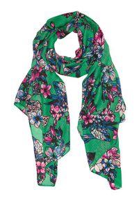 Zielony szalik Cellbes w kwiaty
