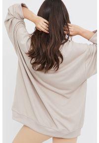 Beżowa bluza Answear Lab długa, z długim rękawem, gładkie, wakacyjna