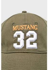 Zielona czapka z daszkiem Mustang