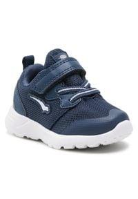 Bagheera - Sneakersy BAGHEERA - Gemini 86521-2 C2608 Navy/White. Okazja: na co dzień. Zapięcie: rzepy. Kolor: niebieski. Materiał: skóra ekologiczna, skóra, materiał. Szerokość cholewki: normalna. Styl: casual