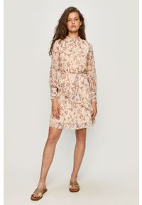 Różowa sukienka Jacqueline de Yong mini, casualowa