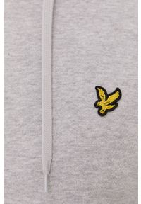 Szara bluza nierozpinana Lyle & Scott casualowa, z aplikacjami, na co dzień