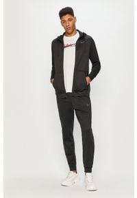 Czarna bluza rozpinana Nike casualowa, na co dzień, z kapturem