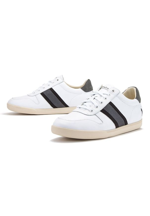 Sneakersy Ralph Lauren na sznurówki, z cholewką