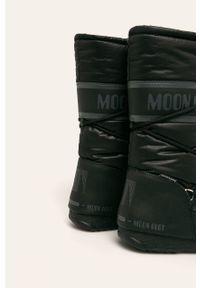 Czarne śniegowce Moon Boot z cholewką, na obcasie, na średnim obcasie #4