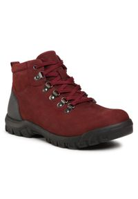 Czerwone buty zimowe Go Soft eleganckie, z cholewką