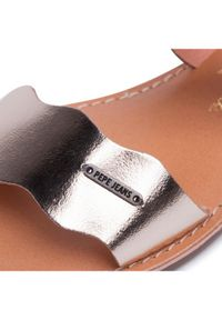 Złote sandały Pepe Jeans