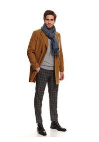 TOP SECRET - Sweter półgolf z miękkiej dzianiny. Kolor: szary. Materiał: dzianina. Wzór: gładki. Sezon: wiosna #4