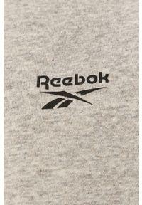 Szara bluza rozpinana Reebok casualowa, na co dzień