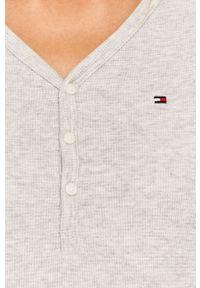 Szara bluzka z długim rękawem TOMMY HILFIGER casualowa, na co dzień