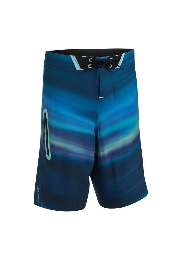 OLAIAN - Spodenki surfing BS 900L OCEAN dla dzieci. Kolor: niebieski. Materiał: poliester, elastan, materiał. Długość: długie