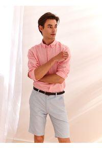 Niebieskie szorty TOP SECRET w kolorowe wzory, na co dzień, klasyczne