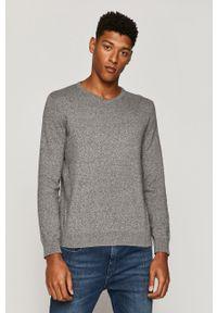 Szary sweter medicine z długim rękawem, casualowy, na co dzień, długi