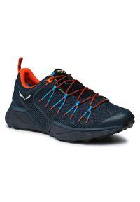 Salewa Trekkingi Ms Dropline Gtx GORE-TEX 61366-8669 Granatowy. Kolor: niebieski. Technologia: Gore-Tex. Sport: turystyka piesza