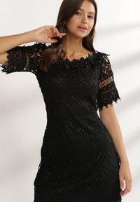 Renee - Czarna Sukienka Elrinielle. Kolor: czarny