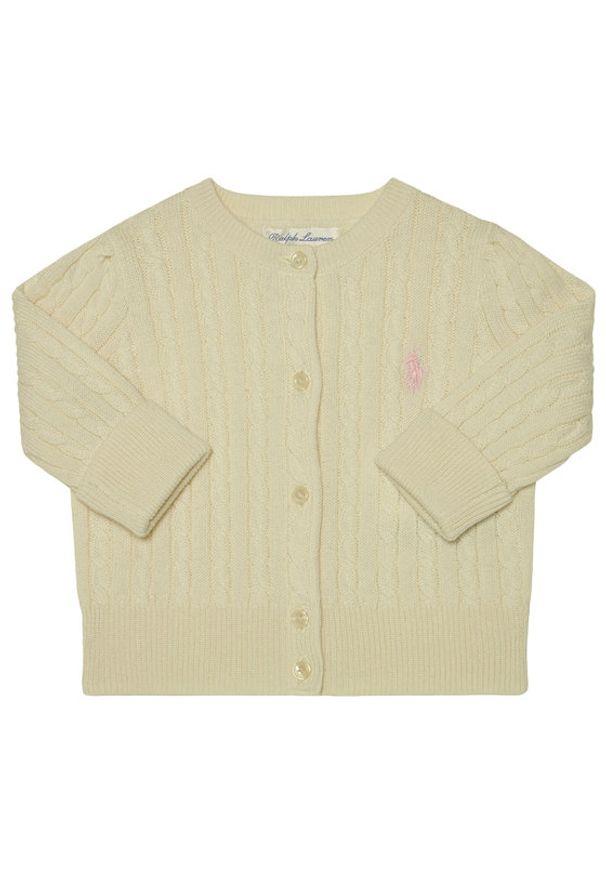 Polo Ralph Lauren Sweter Mini Cable 310543047008 Biały Regular Fit. Typ kołnierza: polo. Kolor: biały