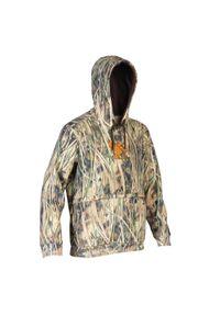 SOLOGNAC - Bluza myśliwska 500 camo. Typ kołnierza: kaptur. Kolor: wielokolorowy. Materiał: polar